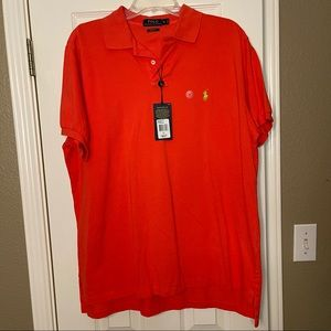 Polo Ralph Lauren NWT Racing Red size XL Polo